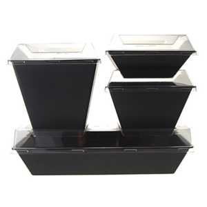 Lid for Rectangle Resto Pack (10 pcs)
